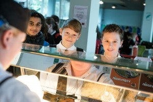 Pupils choosing food at Currie High School (Bronze Catering Mark award, working towards Silver)
